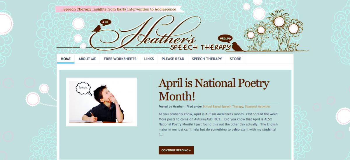 Heather Speech Therapy!
